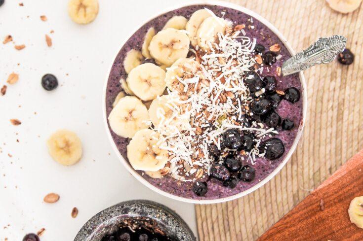 Banana Blueberry Smoothie Bowl