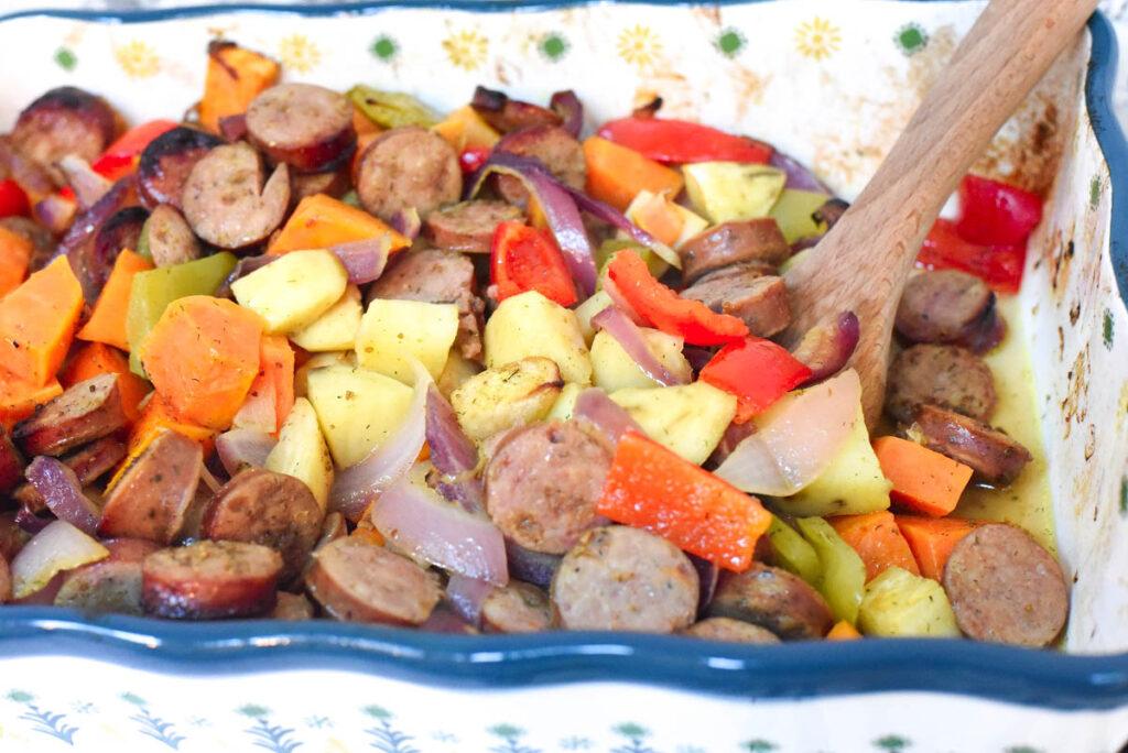 Sweet Potato Sausage Casserole