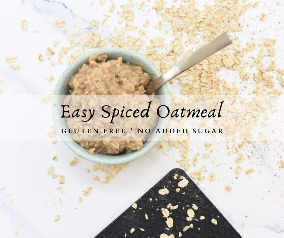 Easy Spiced Oatmeal
