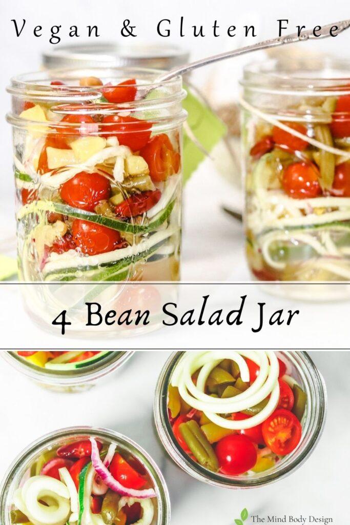 4 Bean Salad Jar