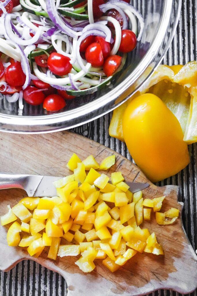 4 Bean Salad Jar Lunch Ingredients