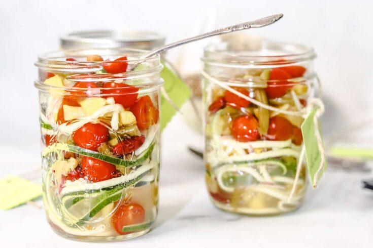 4 Bean Salad Jar Lunch side view